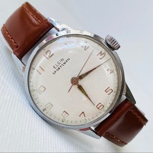 Vintage Elgin Sportsman Hand Wind Men's Watch